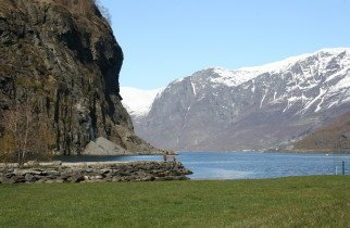 Beautiful outlook of the Fjords from Flam