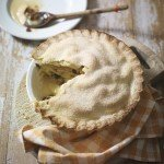 Deep-filled Bramley Apple Pie, a Waitrose Recipe.