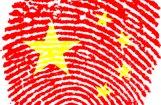 Chinese Flag Fingerprint
