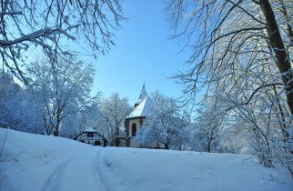 Church in snow