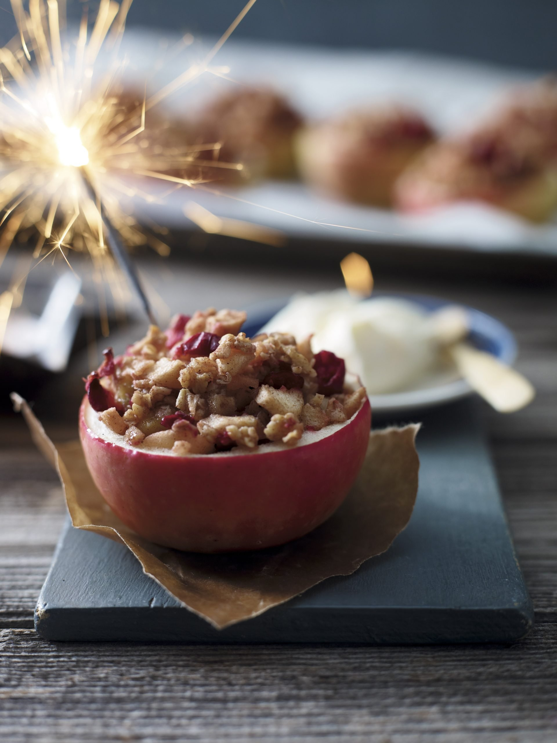 Recipe: Baked Apples with Cranberry and Marzipan Crumble