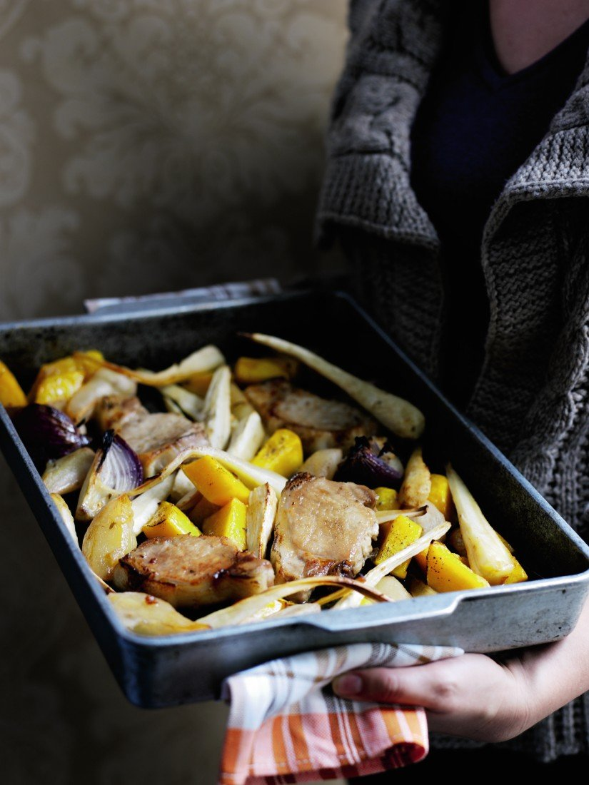 Recipe: Roast Pork with Pears and Parsnips