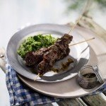Recipe: Cumin Lamb Kebabs with Pea & Leek Mash
