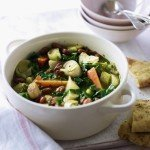 Recipe: Spring Vegetable Casserole with Garlic Bread