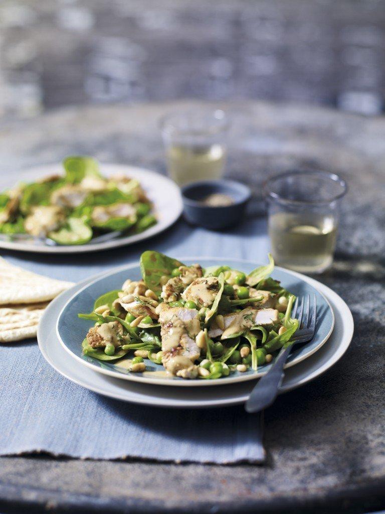 Warm Turkey, Spinach & Pine Nut Salad
