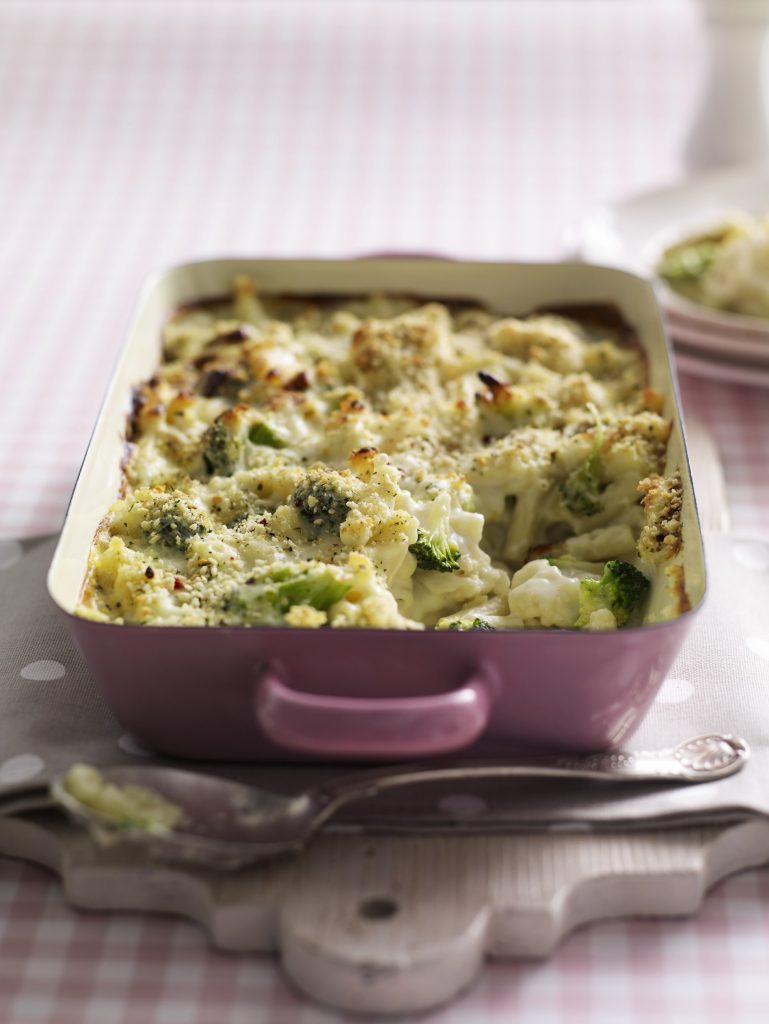 Cauliflower broccoli macaroni cheese