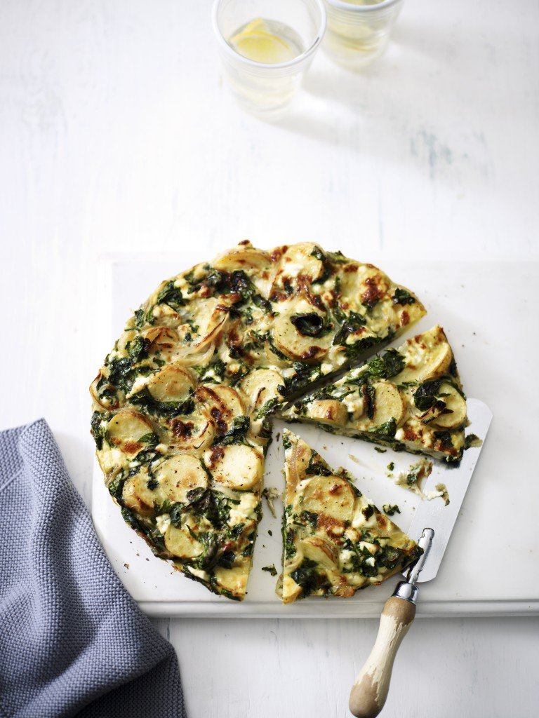 Spinach & ricotta Spanish omelette