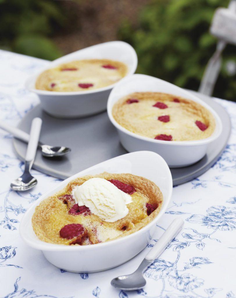 Raspberry Clafoutis With Ground Almonds