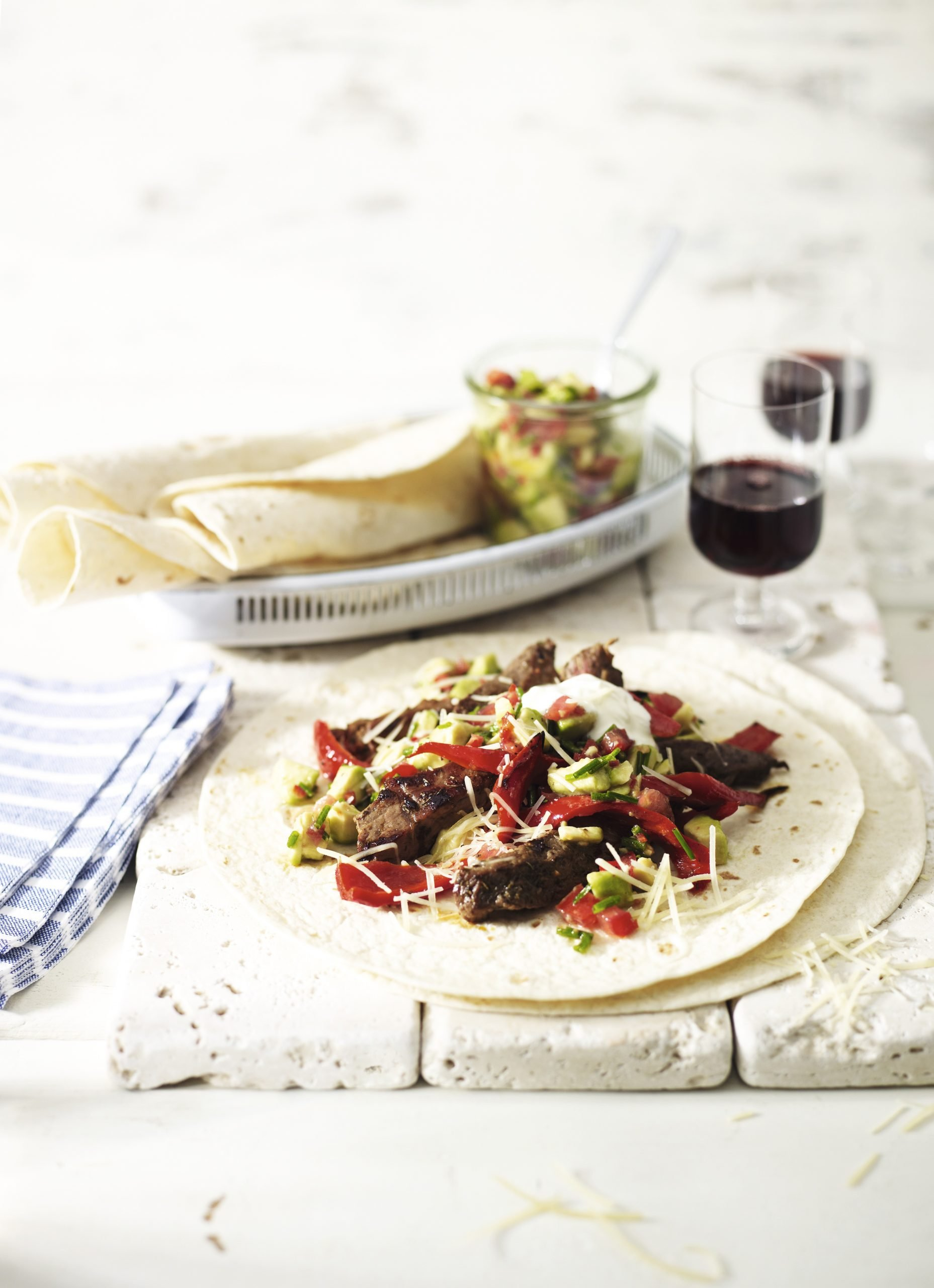 Recipe: Simple steak fajitas with avocado salsa