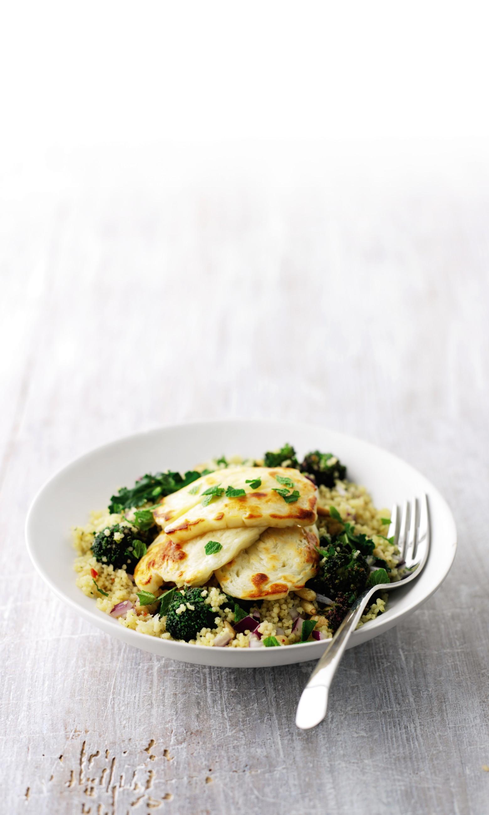 Recipe: Warm Couscous Salad with Halloumi