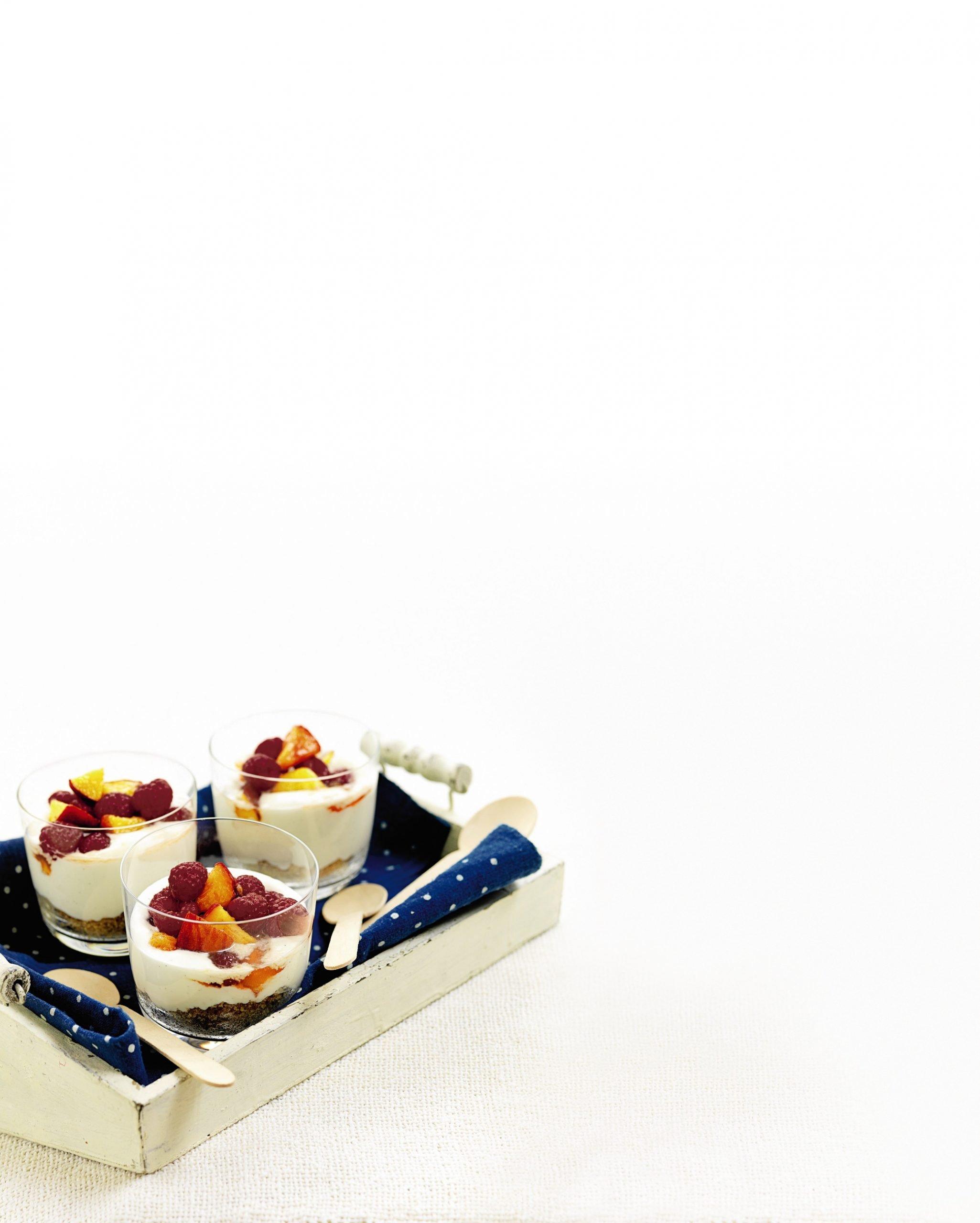 Recipe: Peach Melba Cheesecakes