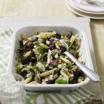Recipe: Roasted aubergine & goat's cheese pasta