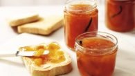 peach and vanilla jam