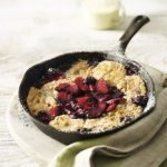 Recipe: Apple and blackberry cobbler.