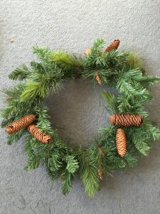 Garland into wreath