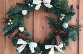 Garland into wreath