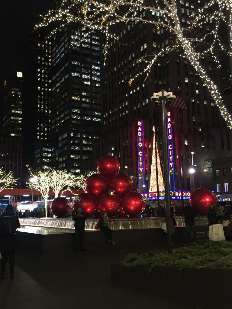 Radio City Christmas display
