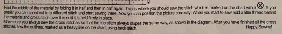 Cross Stitch Understanding Instructions