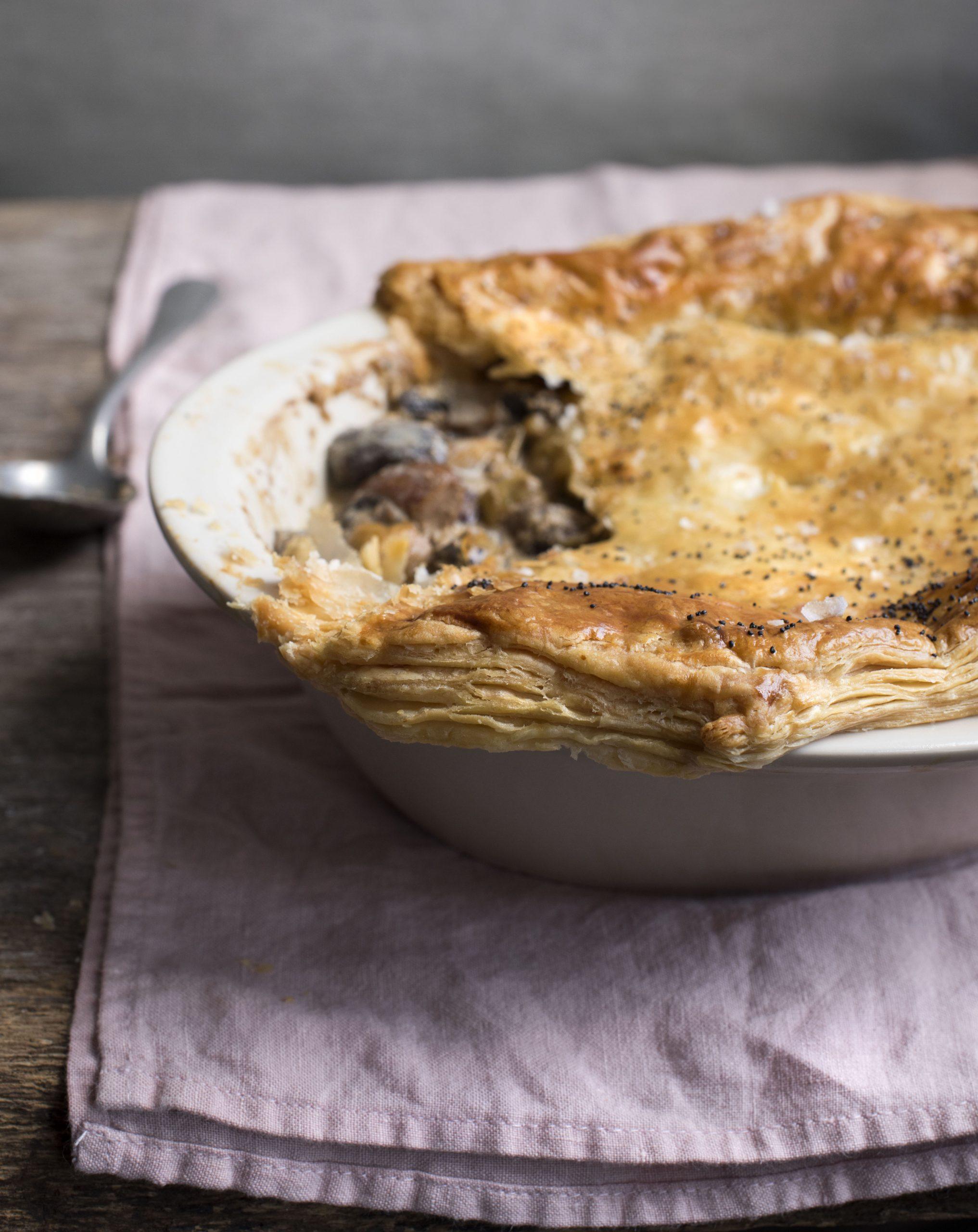 Recipe: Creamy Mushroom & Chestnut Pie