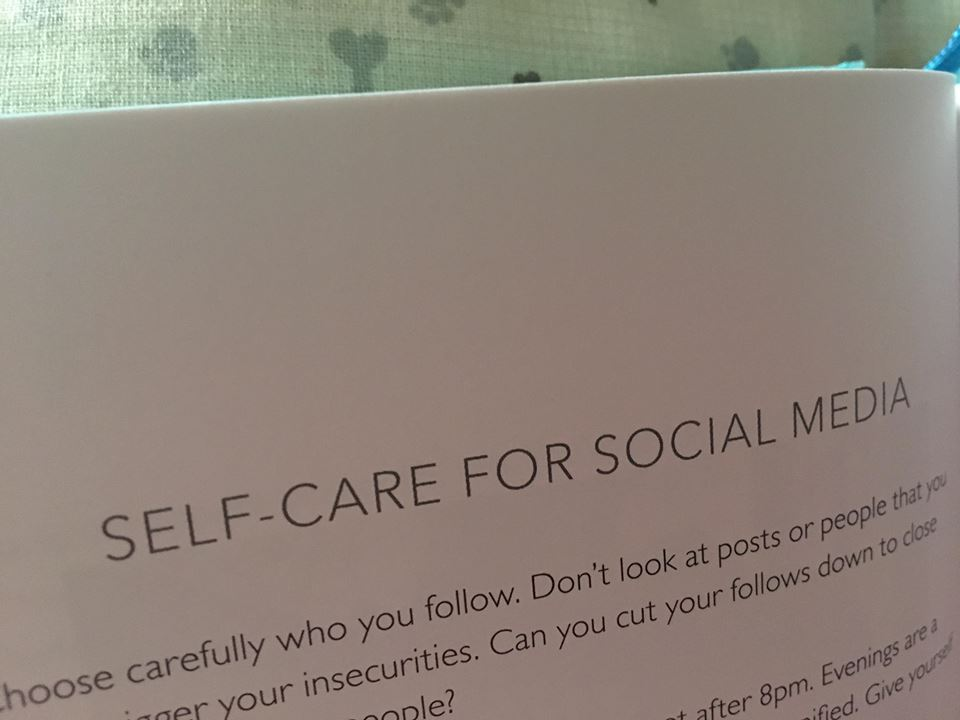 Self care for social media