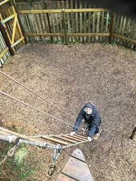 Sam climbing