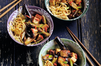 Aubergine stir-fry recipe