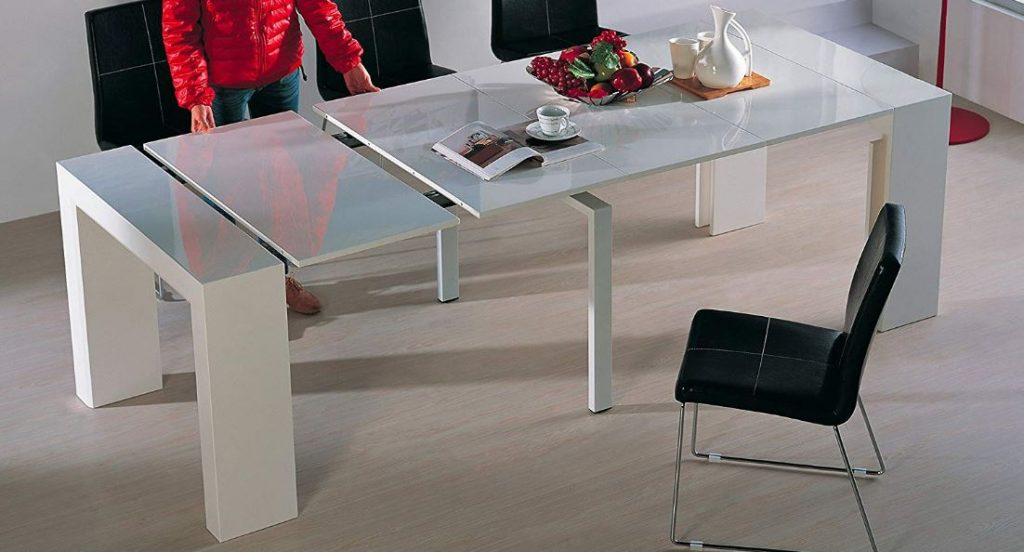 This Viva Home dining table extends to the size you need it