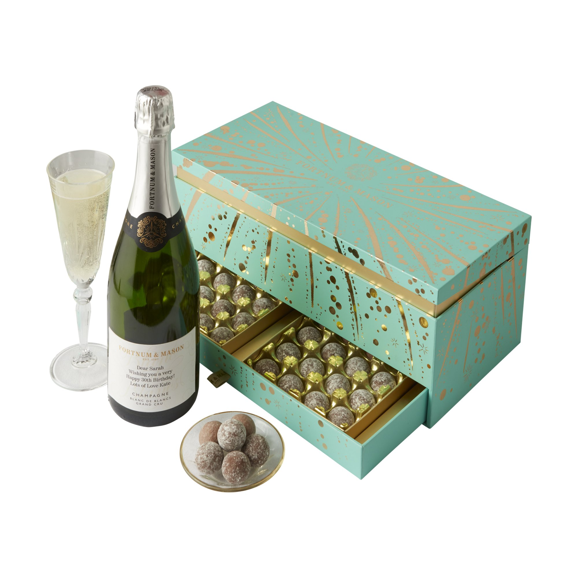 Personalised Champagne and Chocolates Gift