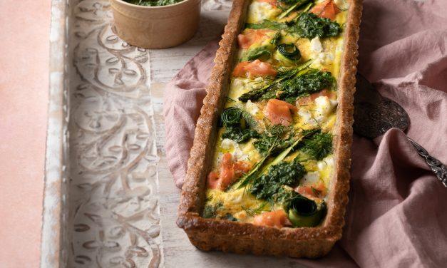Recipe: Salmon & Spring Greens Tart